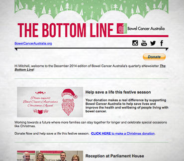 The Bottom Line ::: Sign Up Bowel Cancer Australia's eNews
