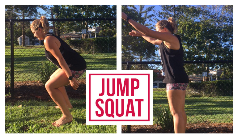 Bowel Cancer Australia 770x450 Hollie Warmup Jump Squat