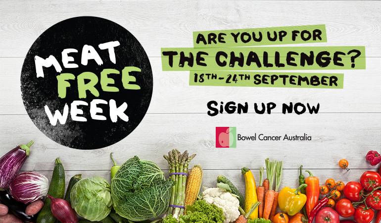 Bowel Cancer Australia 770x450 Meat Free Week 2017