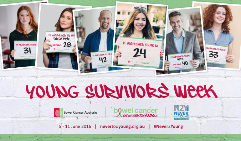 Bowel Cancer Australia 770x450 Young Survivors Week