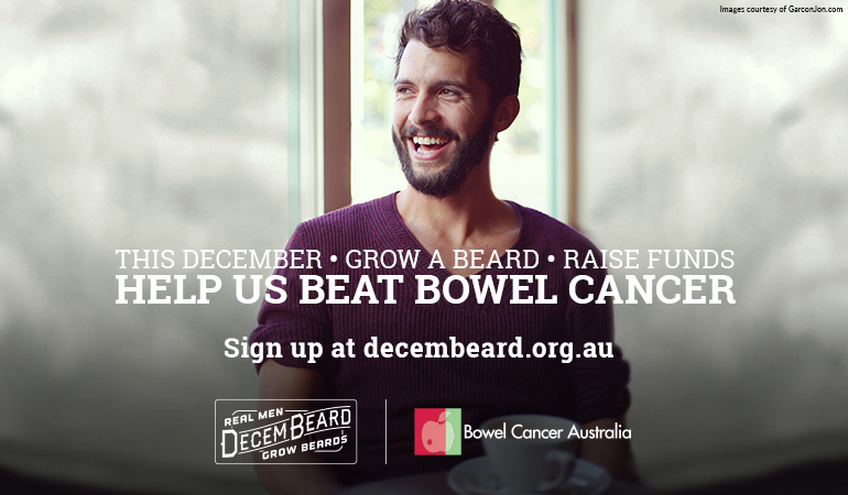 Bowel Cancer Australia Awareness Decembeard 770