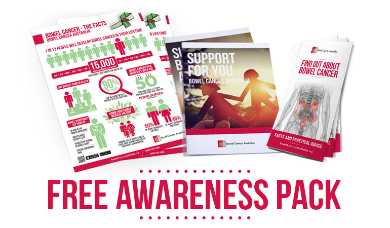 Bowel Cancer Australia Awareness Free Awareness Pack 770-2