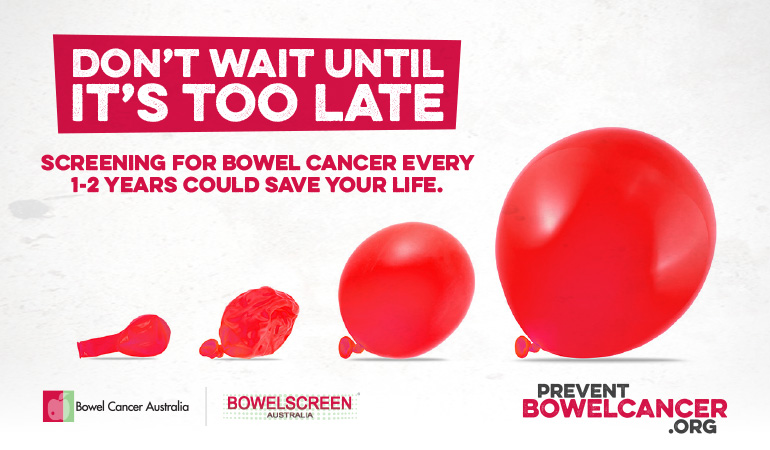 Bowel Cancer Australia Awareness Prevent Bowel Cancer 770
