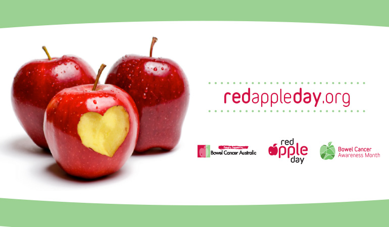 Bowel Cancer Australia Awareness Red Apple Day 770