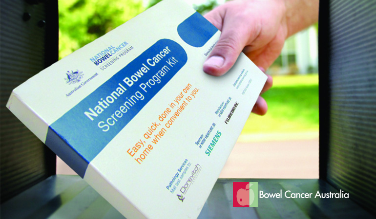 Bowel Cancer Australia NBCSP test kit mailbox