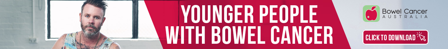 BCA 2020 Website Banner Ad 1520x168 Younger People with Bowel Cancer