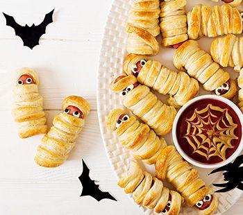 Spooky Sausage Mummies