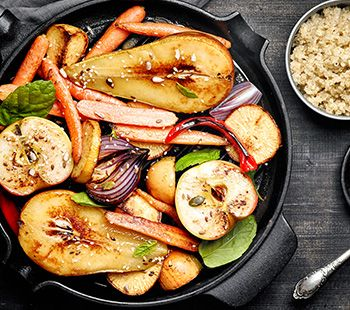 Roasted Apple and Veggies