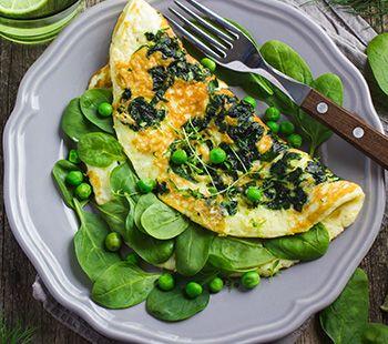 Go Green Omelette With Portobello Fries